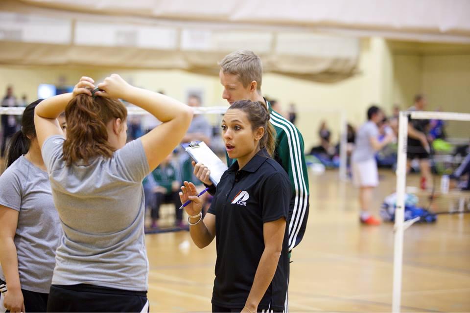 Après avoir joué pendant deux saisons avec les Patriotes, Sabrina Lévesque-Bouchard est maintenant l'entraîneure de l'équipe de badminton. Photo: Patriotes