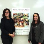 Mesdames Caroline Lajoie et Martine Trudel, conseillères d'orientation et animatrices de la conférence «Bâtir sa confiance, croire en ses forces!». Photo: Caroline Bodin