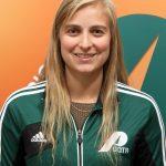 Laurie Simard est de retour au sein de l'équipe féminine de volleyball des Patriotes de l'UQTR. Photo: Patriotes.