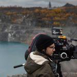 Chloé Robichaud en plein tournage du film Pays. Photo: Films Séville