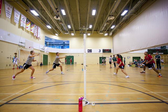 Les Patriotes s'entraînent fort afin d'être dans l'élite du badminton universitaire. Photo: Patriotes