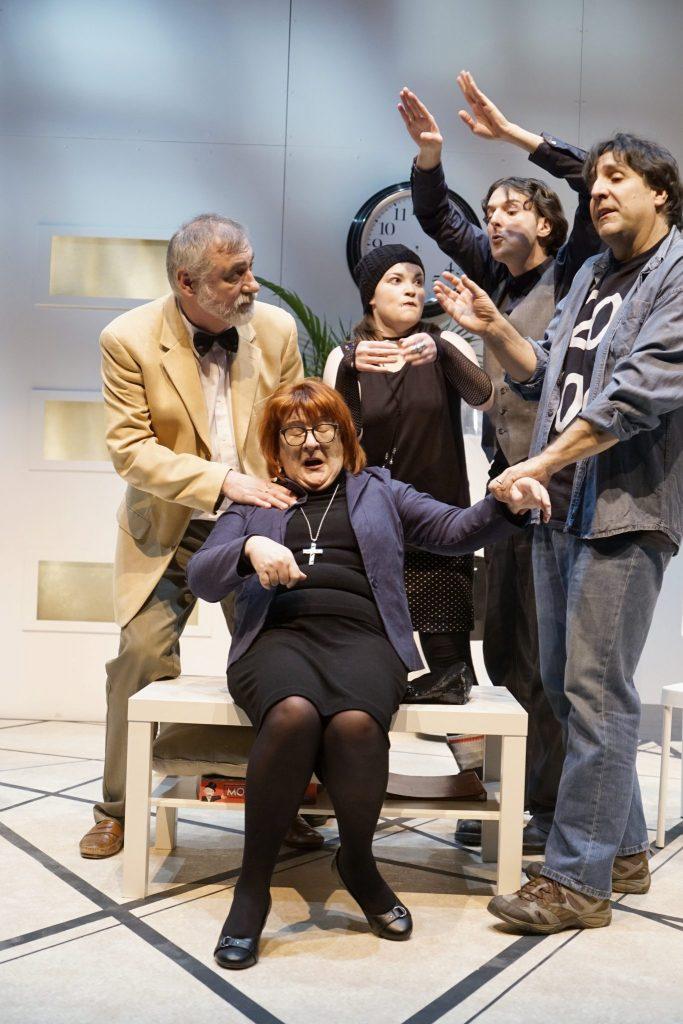 Toc Toc, pièce écrite initialement par Laurent Baffie, a été adaptée pour le Théâtre des gens de la place par Marie-Claude Brasseur. Photo: Lauréanne Daneau