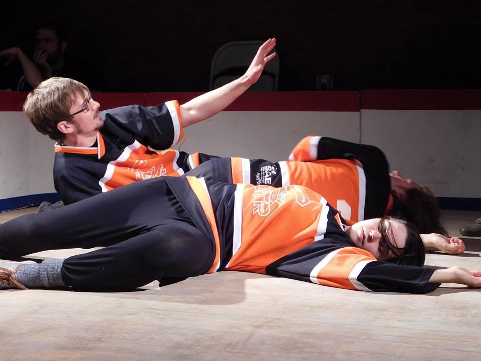 Jocelyn Garneau en pleine improvisation dramatique. Photo: Julien Tapps