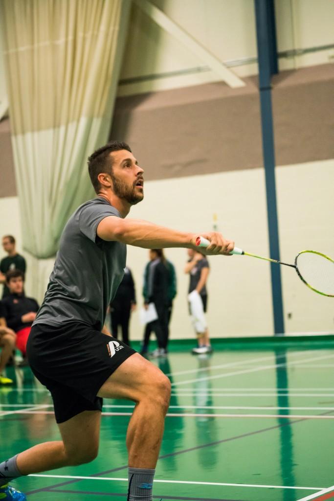 Simon Savard, auteur de deux victoires individuelles cette saison, a aidé à son équipe à vaincre l'Université de Sherbrooke. Photo: Patriotes