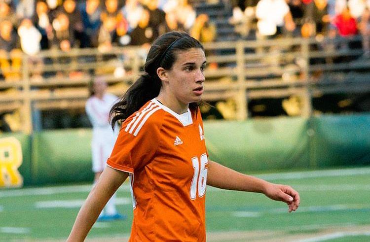 Valérie Noël a été l'une des athlètes à inscrire un but pour les Patriotes. Photo: Patriotes UQTR