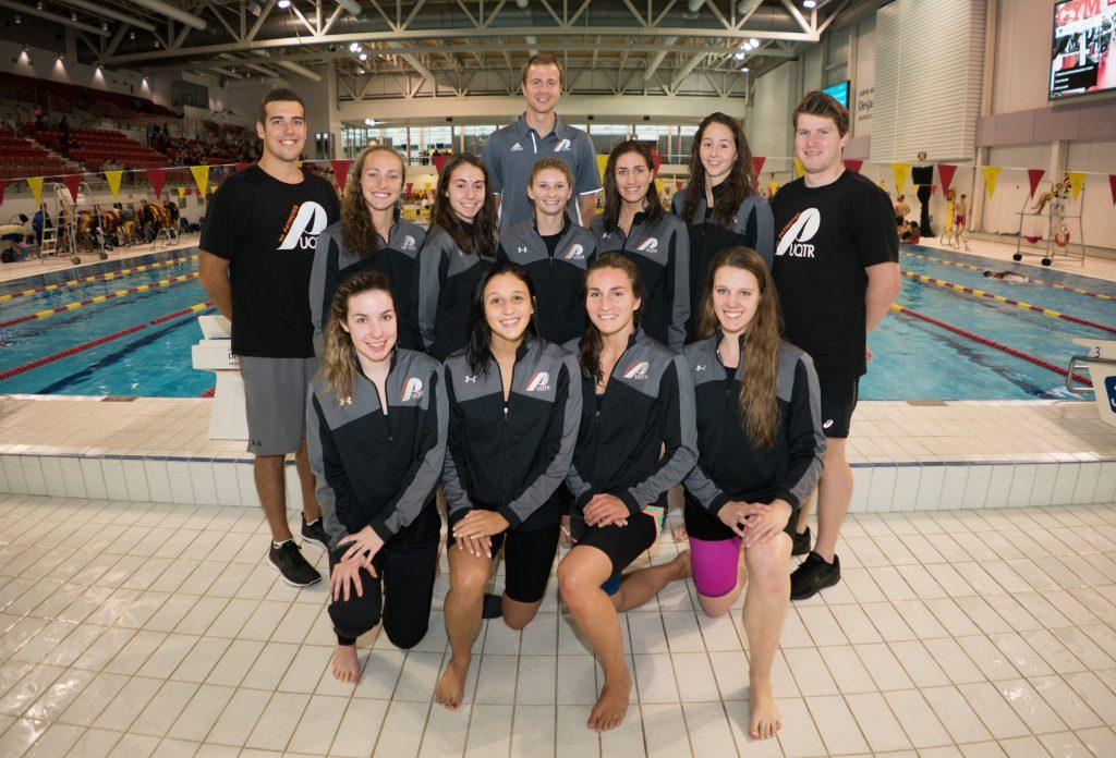 L'équipe des Patriotes de l'UQTR en natation. Crédit: Simon Lahaye