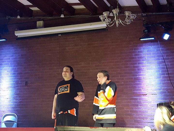 Les joueurs Marc-André Marion-Flamand et Alexis Roy. Photo: Marianne Chartier-Boulanger