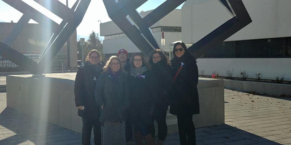 Membres du GAF (de gauche à droite): Catherie Lemarier-Saulnier, Carol-Ann Hobbs, Fannie Hamel-Thibault, Carol-Ann Rouillard, Valérie Deschamps et Marie-Claude Morin. Photo: Ann-Julie Durocher