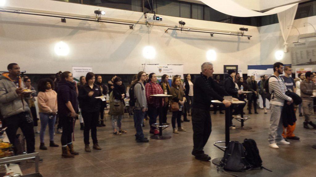 70 personnes sont venues à l'événement. Photo : M. Labrousse