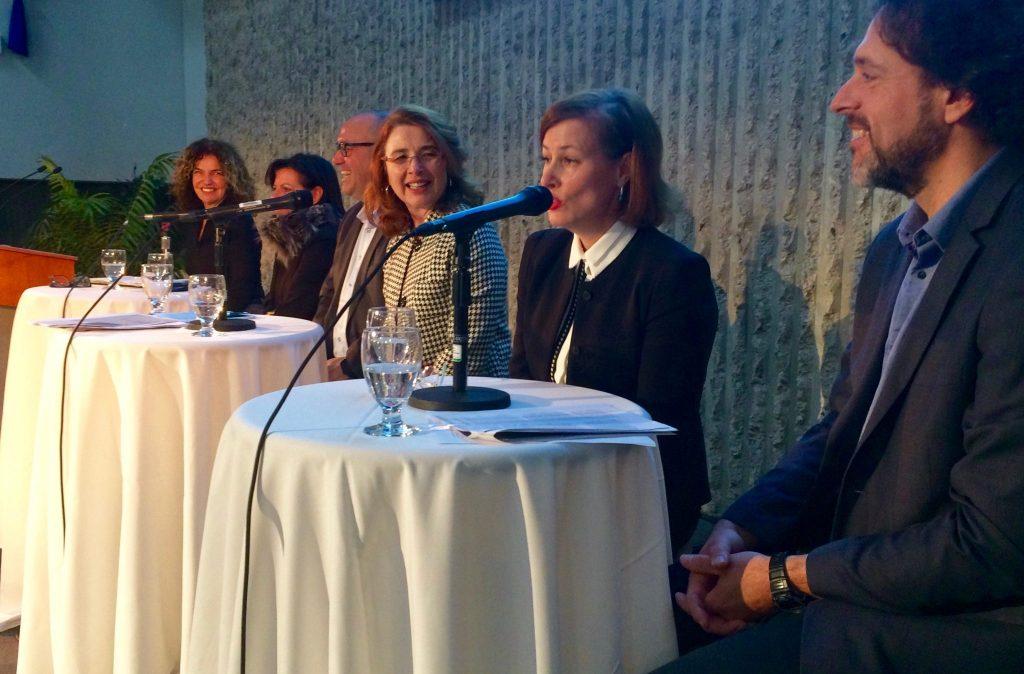 Les conférencières et conférenciers de l'événement «Regards sur l'entrepreneuriat féminin: perspective régionale, provinciale et internationale». Photo: Sébastien Houle