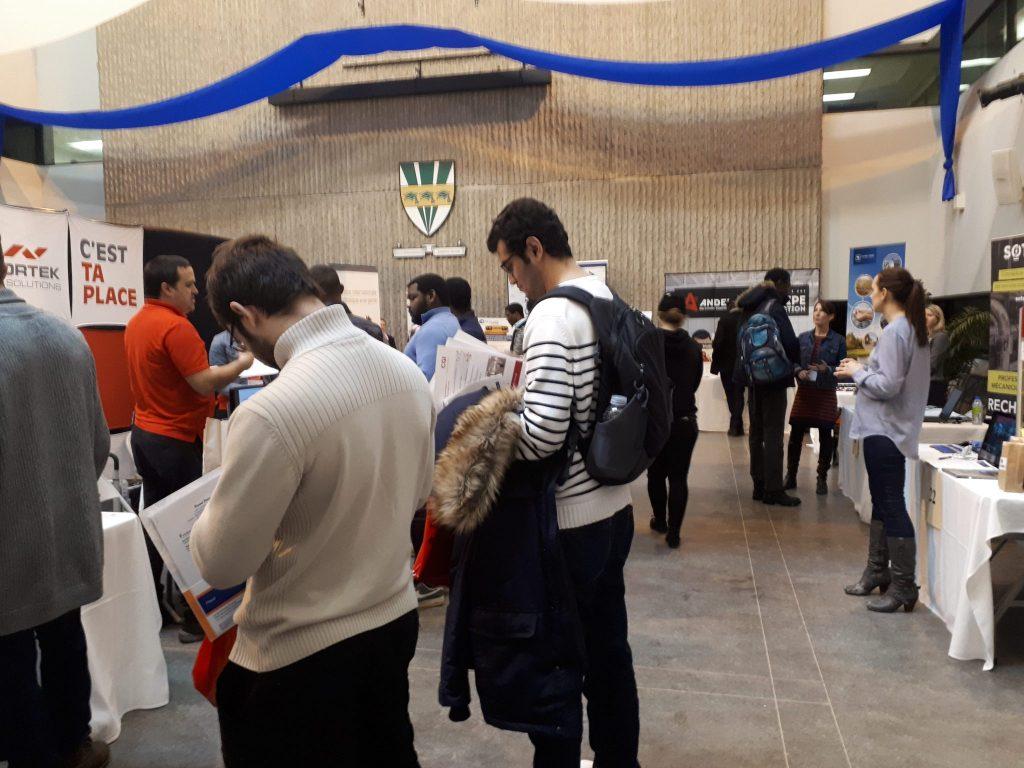 600 étudiant.e.s se seraient présentées au StagEmploi cette année. Photo: Gracieuseté Saray Moreira