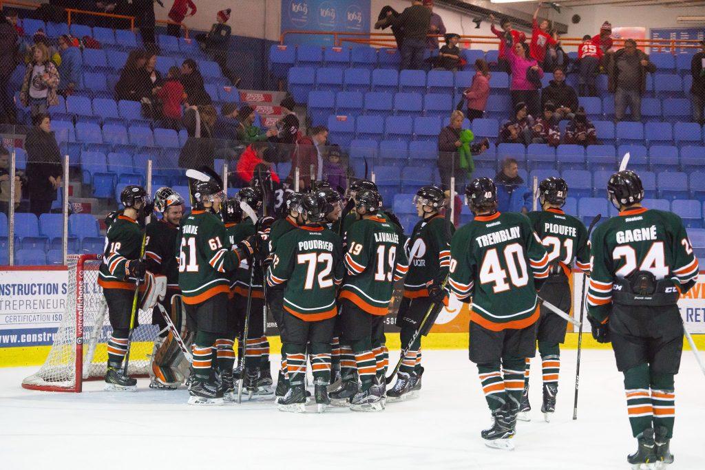 Les Patriotes (ici lors du match du 24 novembre dernier) ont battu les Redmen de McGill, premier au classement général de la Ligue de hockey de l'Ontario, par la marque de 5 à 4 grâce à un effort collectif. Photo: Ariane Samson