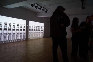 Le projet «Travaux en cours » de Carolanne Lambert présentée à l'Atelier Silex. Photo : Audreyanne Clavet