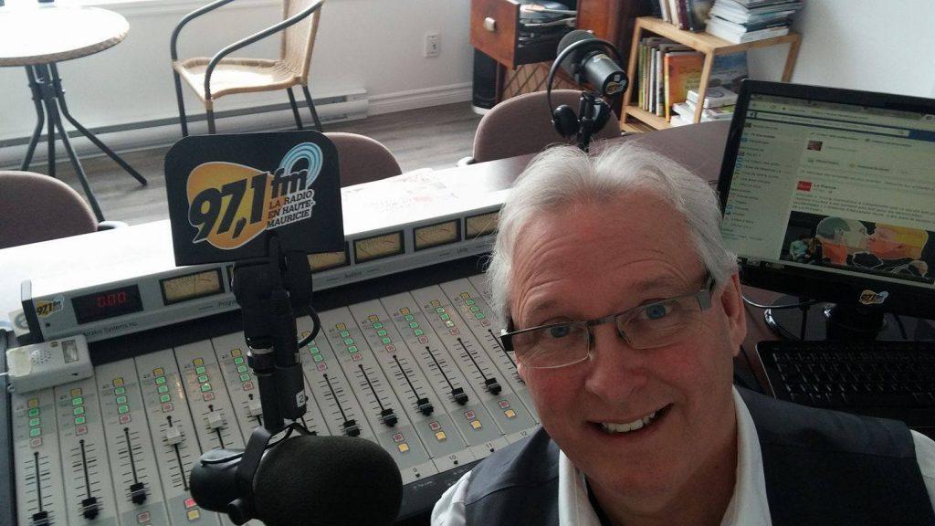 André Mercier, animateur et journaliste à CFLM 97.1 FM. Photo: 97,1FM