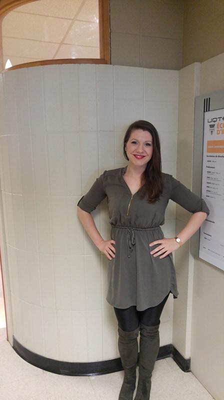 Jessica Geoffroy-Janelle, étudiante à la maîtrise en communication sociale à l'Université du Québec à Trois-Rivières (UQTR). Photo: Alexandre Brouillard