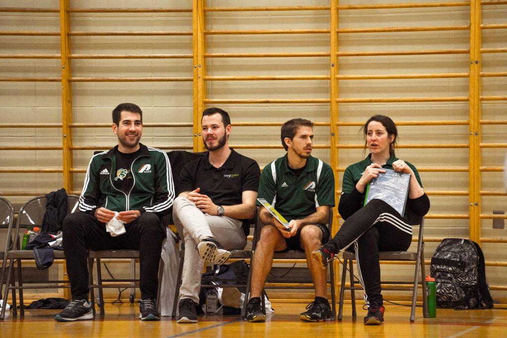 Tous les entraineurs font mention spéciale de l'excellent travail de leurs collègues et de l'organisation des Patriotes. Photo: Patriotes UQTR