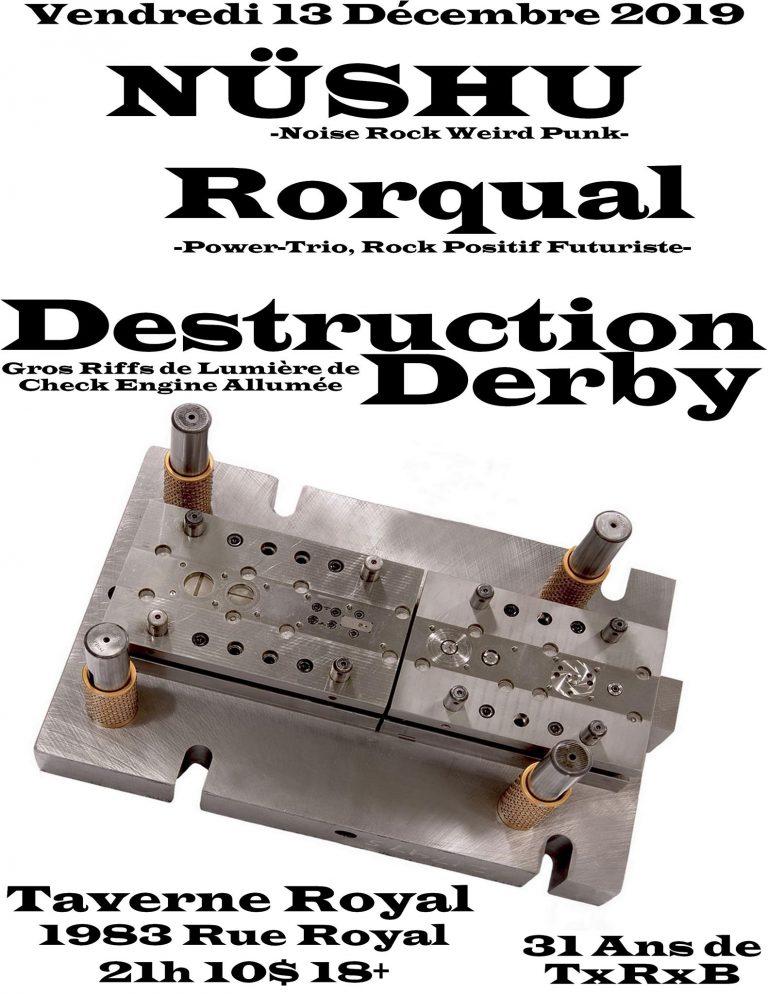 Nüshu, Rorqual et Destruction Derby: Chevreuil, parfum et hydrazine!