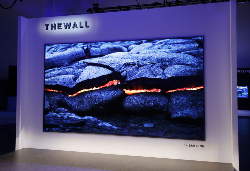 Description : Samsung's The Wall TV is a modular 146-inch monster that uses MicroLED